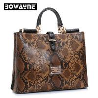Top Fashion Luxury Brand Women Genuine Leather Handbag High Quality Python Snakeskin Women Messenger bag 10