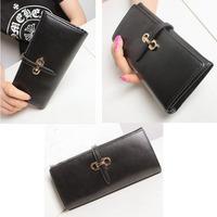 2014 new simple pump belt leather purse Lady Long Wallet Women Clutch Purses Genuine Leather Wallet