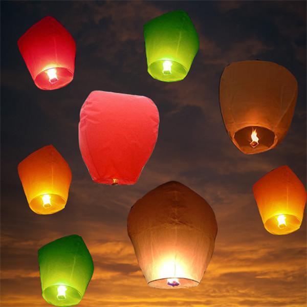 400 pcs/lot sky lantern float paper chinese lamp fly air wish lantern free shipping(China (Mainland))