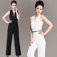 Jumpsuit trousers 2014 jumpsuit female fashion wide leg pants jumpsuit clothes women's