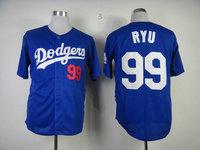 Mlb jersey los angeles dodgers 99 hyun-jin ryu dodge baseball uniform clothing