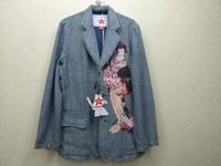Male denim suit casual fashion vintage touchbase
