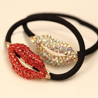 Free shipping 2014 hot sale!! Personality rhinestone sexy lip hair band beautiful accessories for hair HJ021