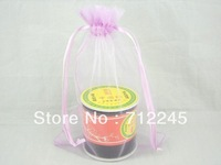 "Free Shipping Wholesale 50pcs/lot PLUM 13*18CM Organza Jewelry Gift 5*7"" Packing Bags Wedding Favours Pouches"