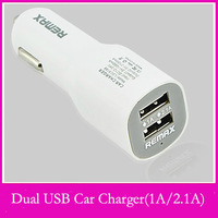 Original Remax Dual usb car charger adapter 1A/2.1A for SAMSUNG iphone ipad Mini universal car charger