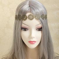 Brand New Metal Round Flower Vintage Women Headband Korean Jewelry Wholesale & Retail