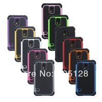 100pcs/Lot Galaxy S5 Hybrid Case,Shock Proof Heavy Duty Armor Cases Skin Cove For Samsung Galaxy S5 I9600 G900