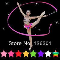 10 Pcs Mix Color 4M Gym Dance Ribbon Rhythmic Art Gymnastic Streamer Baton Twirling Rod