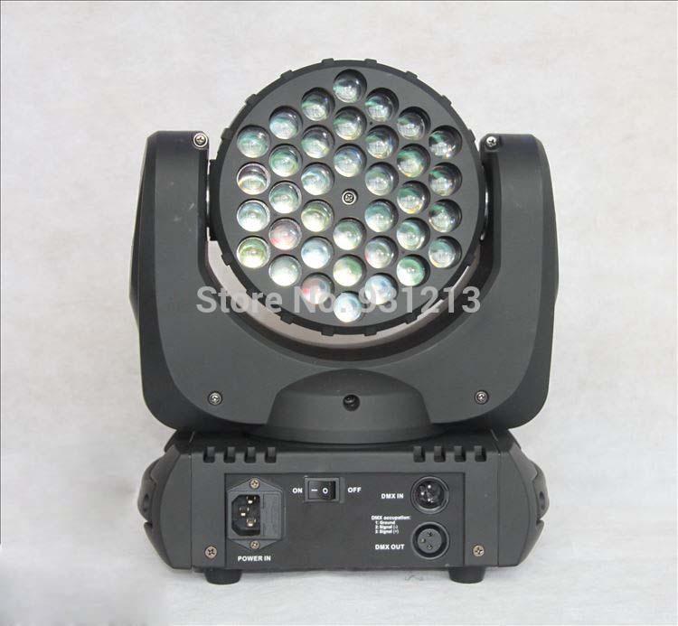 Fast shipping color club lighting effects dj 36x3w CREE LED RGBW beam moving head lights stage mini led dj light(China (Mainland))