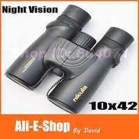 Original Waterproof nikula 10x42 binoculars HD Green FMC View 105/1000m with Night Vision binocular telescope Free Shipping