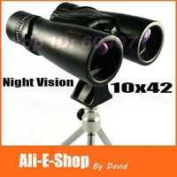 Original Waterproof nikula 10x42 binoculars HD Green FMC View 105/1000m Night Vision binocular telescope + Tripod Free Shipping