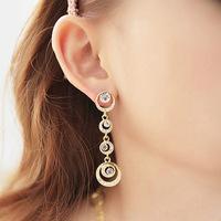 Free shipping Romantic fashion circle eardrop eardrop of water circle serial stud earrings