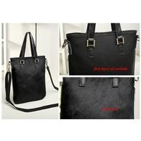 cowhide horse hair genuine leather new 2014 women handbag women leather handbag vintage bag messenger bags leopard print