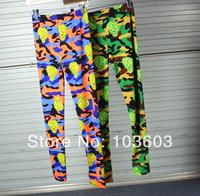 Fashion Personality Patterns Leopard Skull Graffiti Leggings Printing Slim Stretch Pants Harajuku Style Hip-hop Women Apparel