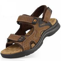 2014 Camel mens sandals slippers genuine leather cowhide sandals outdoor casual men leather sandals for men