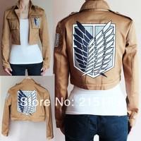 High Quality Attack on Titan Shingeki no Kyojin Legion Cosplay Costume Embroider Jacket Coat  Size M L XL XXL XXXL
