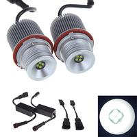 2pcs 2*40W Bridgelux 3535 LED Angel Eyes Led Marker Lights Lamp Bulb Car Light Source for BMW E39 E53 E64 BMW 1/5/6/7 Series X3