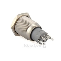 Wholesale 16mm 12V On/Off Push Buttons Switch for Car Auto Boat Silver