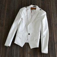 2014 Leather jacket blazer autumn women's small leather clothing motorcycle PU clothing female coat suit
