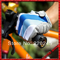 Dropshipping 2014 MTB Racing Half Finger Cycling Gloves Fingerless Cycling Gloves For Women Men Size M/L/XL