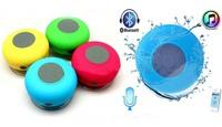 2014BTS-06 Waterproof Bluetooth speaker Bathroom Sucker wireless bluetooth stereo mini speakers handsfree for mobilephone,PC,MP3