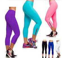 Women Capri YOGA Running Pants High Waist Cropped Leggings Fitness S XL(China (Mainland))
