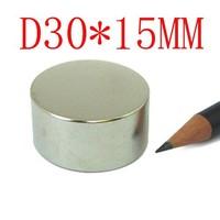 30*15  hot sale 2 pcs 30mm x 15mm disc powerful magnet craft neodymium  rare earth permanent strong n50 n52 30*15 30x15