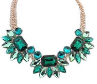 Min order 10USD(Mix order) SJB475  New 2013 Fashion Hot Selling Water Drop Big Gem Stone choker statement necklace wholesale