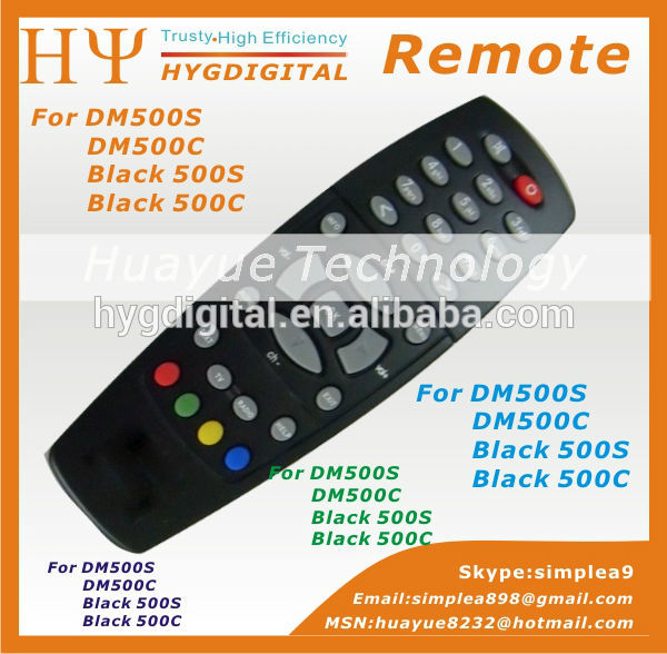 Black / Silvery DM500 Remote Control for DM500S DM500C DM500T Free Shipping post(China (Mainland))