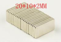 sale  50pcs block magnet 20 x 10 2 mm powerful craft neodymium  rare earth permanent strong n50 n52