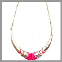 2014 fashion short design neon vintage collar necklace &pendant women necklace free shipping
