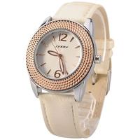 2014 NEW  trends 2 Colros Fashion Sinobi Elegant Clock casual Quartz Women's Girls' Wristwatch with leather strap