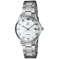 SH 9261 Women's White Dial Stainless Steel Automatic Mechanical Watch