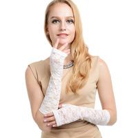 Summer lace women driving gloves anti-uv gloves semi-finger sunscreen female glove