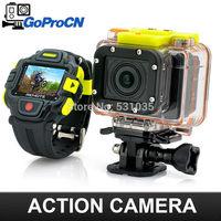 Ambarella A7 Sports Camera  with WIFI control and RF 16MP sensor 1080P 60fps 60 meters waterproof VS Gopro Hero3 Black Edition
