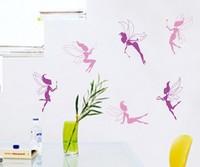Free shipping!! JM8202 cartoon fairy wall stickers nursery wall decor 50*70cm