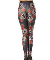 Hot Wholesale Fashion 2014 Womens Pirate Costume Leggins Galaxy Pants Digital Printing FUNNY SKULLS LEGGINGS