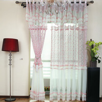 Free shipping Rustic pink lace patchwork shalian window screening 425 quality princess