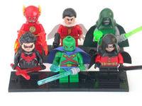 6 Sets Minifigures Building Toy Super Heroes Robin Flash Shazam Blocks Toy