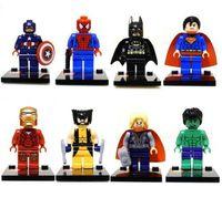 New 8 Sets Super Heroes Mini Figures Series Mini Blocks Toy Avengers Souptoys