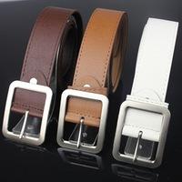 Wholesale Free shipping Fashion Faux Leather Premium Shape Metal Mens strap man Ceinture Buckle Belt men's belt