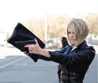 2014 new hot sale women and men Russia's popular model 3d cartoon bag pistol clutch bag pu leather evening bag handbag
