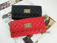 2014 fashion plaid long design wallet fashion wallet female