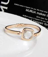 Lo yin 13 full rhinestone - eye rose gold Women buckle bracelet