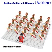 Free shipping!21pcs/lot Star Wars Series Acbar Solider minifigures building block sets,Western Animiation movie figures toys