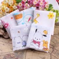Comfortable soft cartoon double layer cotton gauze 100% cotton handkerchief
