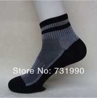 2014 New Hot Nano Silver deodorant Socks 5 pairs set Antibacterial cotton Men's Socks pure high quality business Free shipping