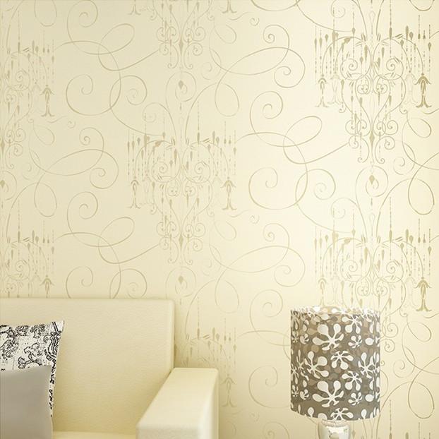 Online kopen wholesale beige damask wallpaper uit china beige damask wallpaper groothandel - Modern behang voor volwassen kamer ...