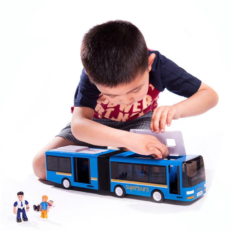 Duplo clássico o ônibus publicvehicle de grandes dimensões bebê de brinquedo de plástico bebê de automóveis de passageiros modelo de carro da criança(China (Mainland))