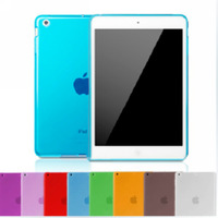 """High Quality Matte Soft TPU Gel Rubber Back Transparent Cover for Apple New iPad Mini 1 /  Mini 2 with Retina 7.9"""" Pouch Case"""